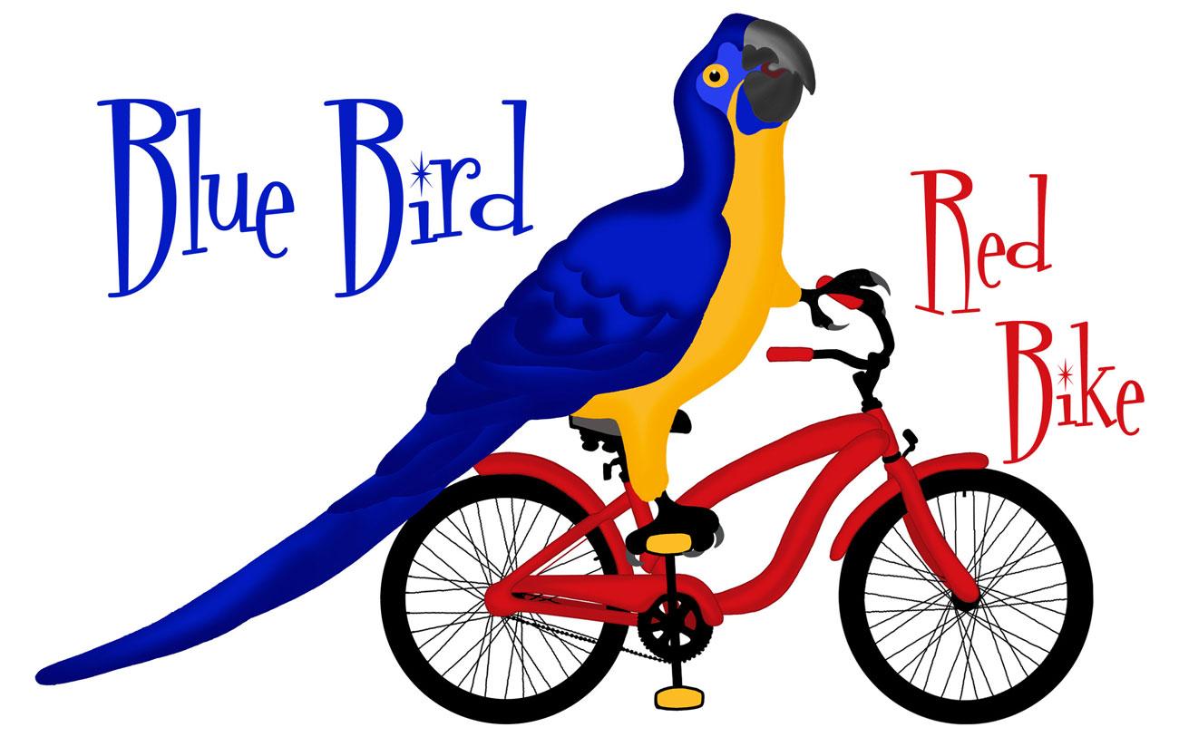 Blue Bird Red Bike (229)