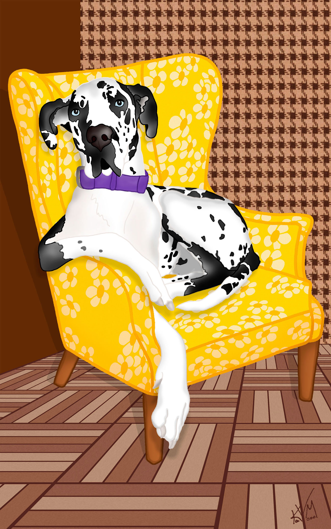 A Great Dane in an Arm Chair (323)