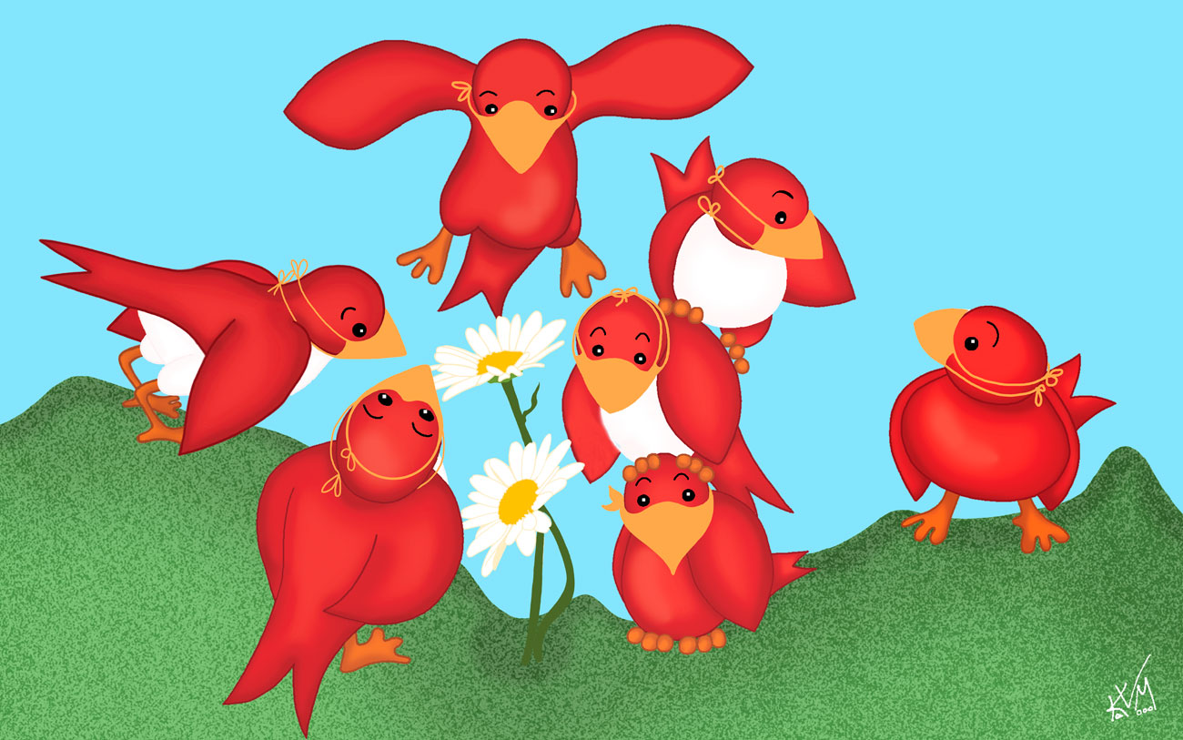 Red Birds on May Day 2020 (330)